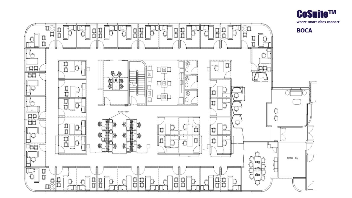 CoSuite Semi Private Area Floor Plan