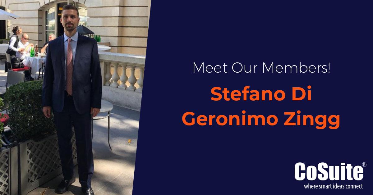 Meet our Members – Stefano Di Geronimo Zingg